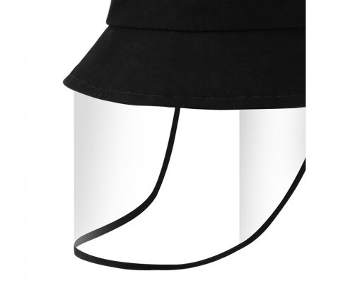 Bucket Hat With Plastic Face Shield