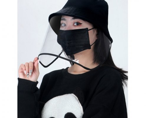 Bucket Hat With Clear Face Shield