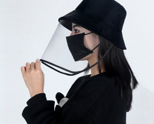 Bucket Hat With Face Shield