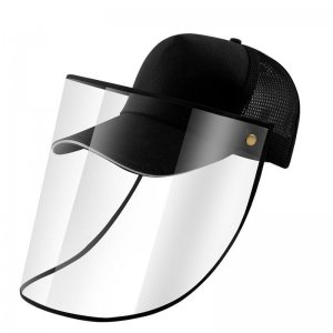 baseball cap with face shield