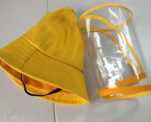bucket hat with face shield for kids 13564763765 2045698582