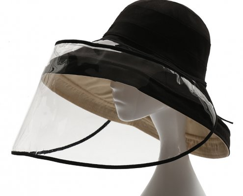 portable clear uv face shield for hats