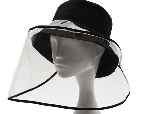 removable clear face shield for all hats