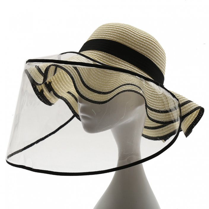 Clear Portable Face Shield For Hat - UV Protective & Social Distancing