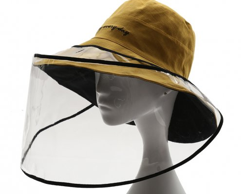 clear face shield with loop to tie on any hats
