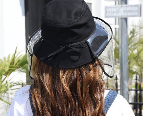 uv protective face shield for bucket hat