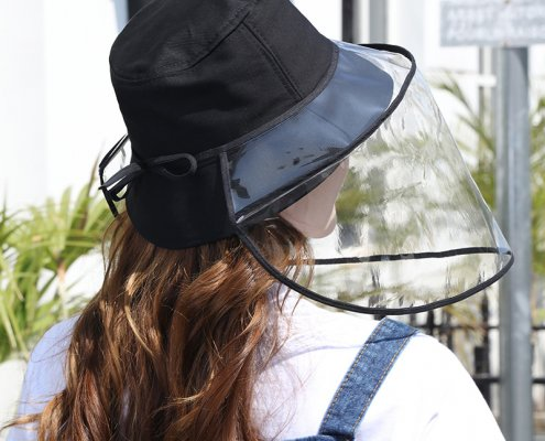 universal uv face shield for hats