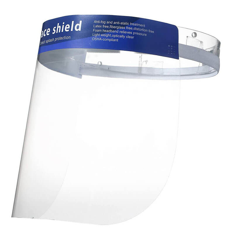 clear face shield safety face shield