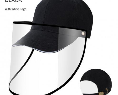 mens baseball cap with face shield
