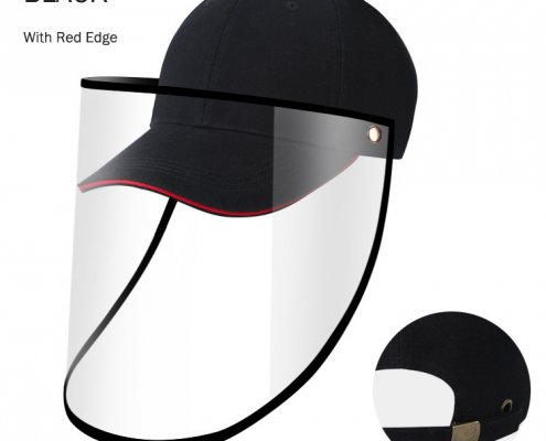 baseball cap with clear face shield wholesale supplier