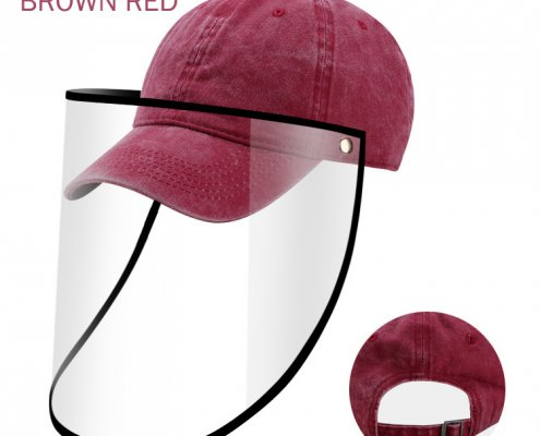 protective baseball cap with face shield wholesale supplier