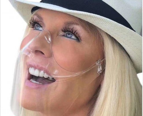 lightweight clear face shield for mouth