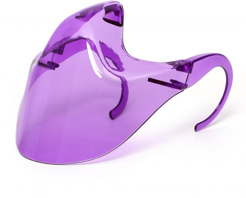 purple translucent clear face shield for mouth